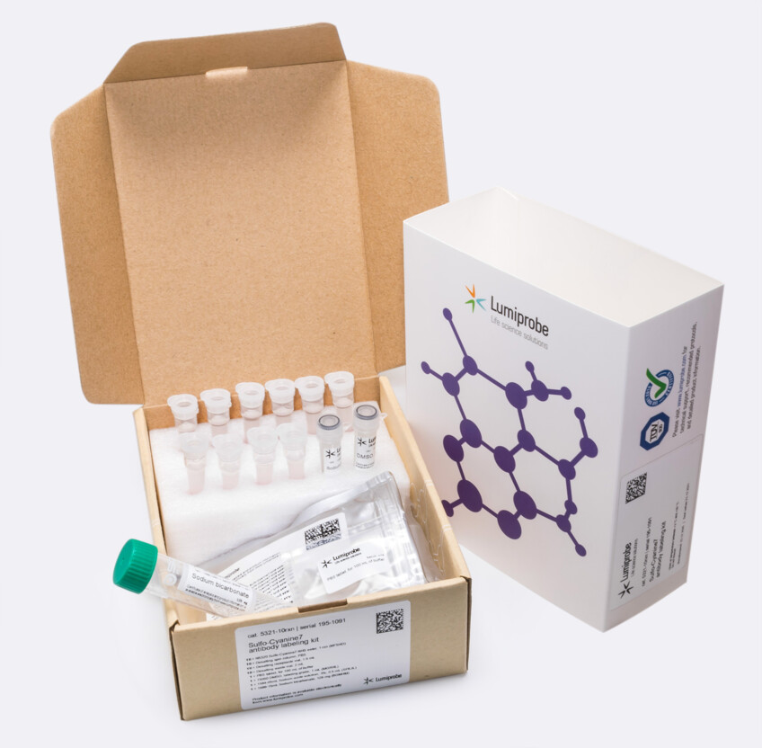 Sulfo-Cyanin 7 Antikörpermarkierungskit, 5321-10rxn