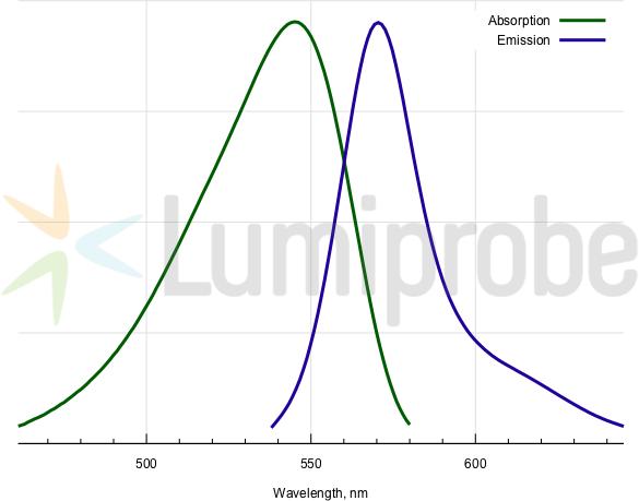 Absorptions- und Emissionsspektren von BODIPY TMR