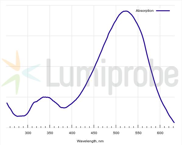 Absorption spectrum of DusQ1